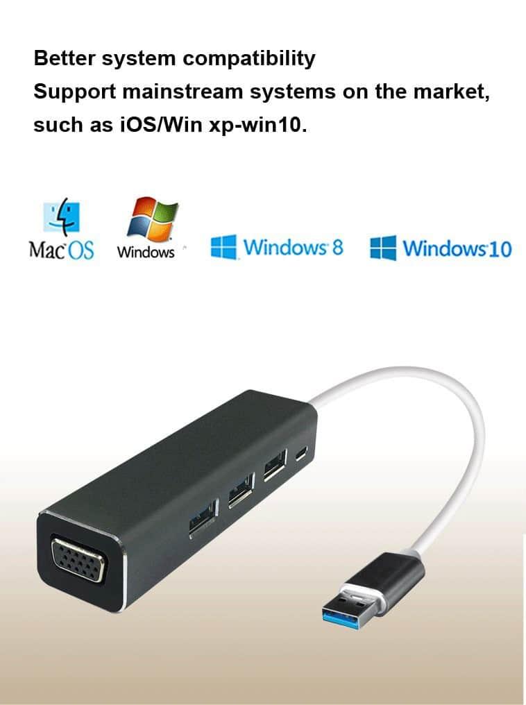 USB3.0 إلى VGA-3